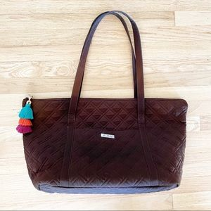Vera Bradley Solid Brown Quilted Travel Day Bag